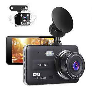 "New Upgrate Dual Dash Cam Car Camera Recorder Full HD 1080P Front and Rear Cameras,Driving Loop Recording with 4.0"" IPS Screen 170°Wide Angle, WDR,Parking Monitor, G-Sensor, Night Vision (4.0)"