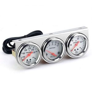 Carrfan 2'' Triple Gauge Kit Volt Gauge Water Temp Gauge Oil Pressure Gauge