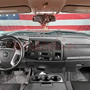 DashSkin Molded Dash Cover Compatible with 07-13 Silverado LS/LT & Sierra SL/SLE in Black/Ebony (USA Made)