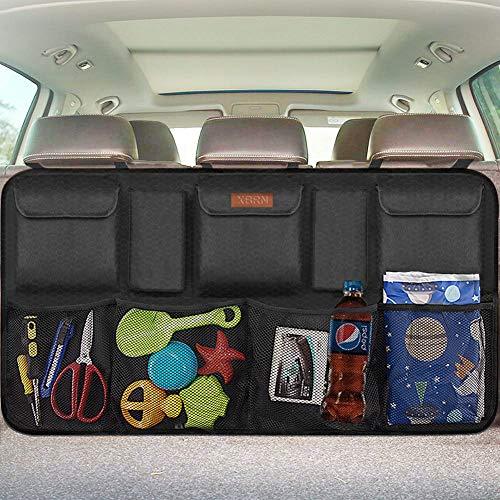 XBRN Trunk Organizer Car Storage - Auto Backseat Organizer Trunk Storage Car Organizer Back Seat Mesh Pockets