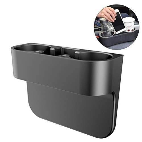 FIOTOK Multifunctional Universal Car Cup Holder Inserts Images Bottle Organizer Seat Back Drinking Bracket Car Seat Wedge Water Bottle Double Cup Holder Cellphone Holder