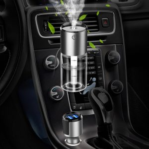 Portable Car Accessories Electrical Car Air Humidifier Dual USB Charger Humidifier Car Air Purifier Auto Air Spray Aromatherapy