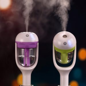 Car Air Humidifier Aroma Diffuser Mini Air Purifier Aromatherapy Essential Oil Diffuser Portable Mist Maker Fogger
