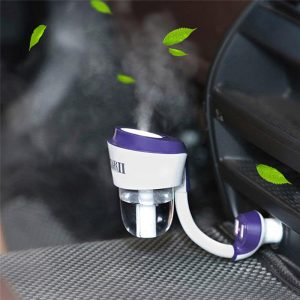 Car air Freshener Purifier Car Air Humidifier Aroma Oil Diffuser Car Air Purifiers with Dual USB 12V Car Charger