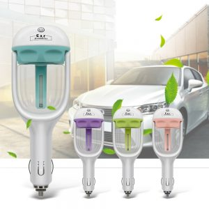 12V Car Steam Air Humidifier Aroma Diffuser Mini Air Purifier Aromatherapy Essential Oil Diffuser Mist Maker Fogger