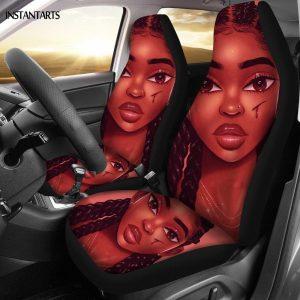 Car Seat Cover Set for Women Full Print
