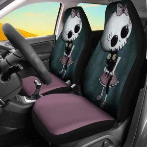 3D Skull Pattern Universal Car Seat Covers