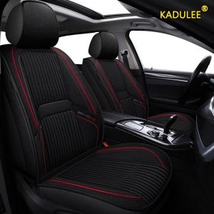 KADULEE flax car seat covers For Skoda Octavia 2 a7 a5 a3