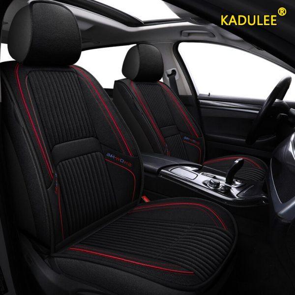 KADULEE flax car seat covers For Skoda Octavia 2 a7 a5 a3