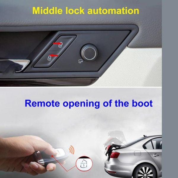 Car Keyless Entry Engine Start Alarm System Push Button