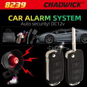 Flip key Car Alarm System B5 Remote Control Central Door Lock