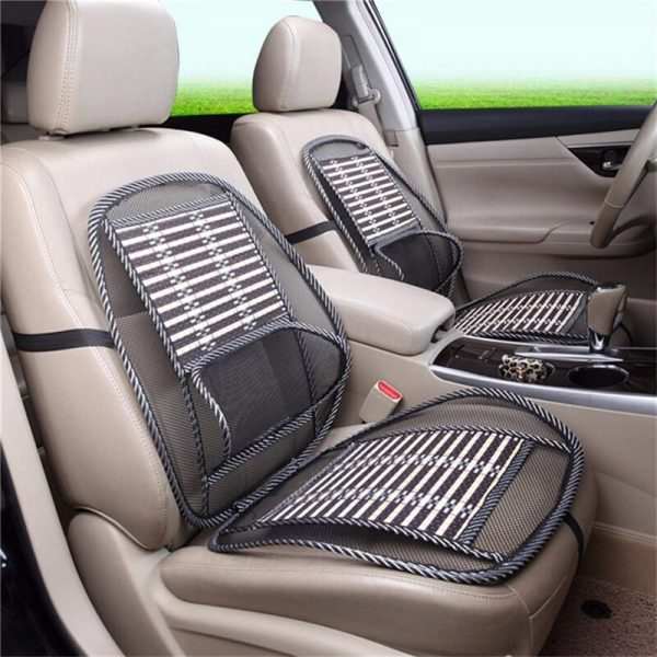 Auto Cooling Breathable Massage Seat Cover Bamboo