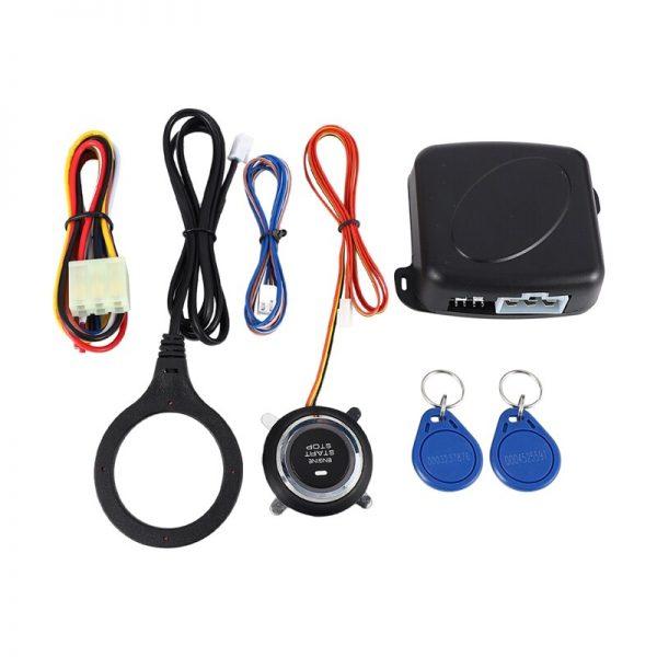 Smart RFID Car Alarm System Push Engine Start Stop Button