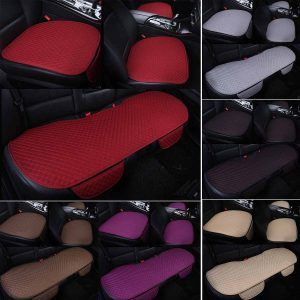 Universal Auto Car Seat Cover Full Set Linen Fabric Four Seasons