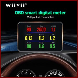 Auto Diagnostic Tool P16 OBD2 Car Engine RPM Gauge