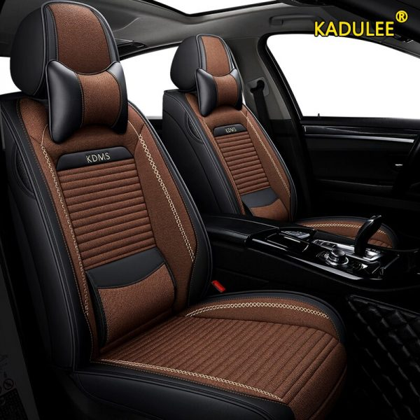 KADULEE flax car seat covers for Citroen c4 c5 c3 C6 Elysee Xsara