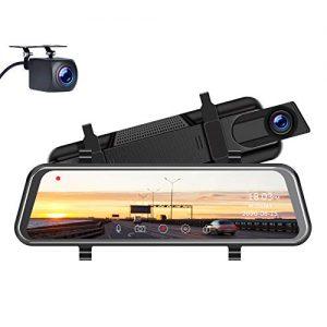 TOGUARD Upgrade 2.5K Mirror Dash Cam for Cars
