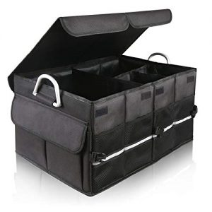 ISFC Car Trunk Organizer With Two Lids - Expandable Large Capacity