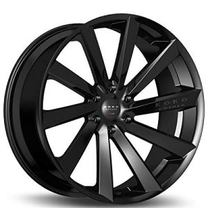 20 Inch Staggered Rims Gloss Black Wheels Fits Challenger, Charger, Mustang, Camaro
