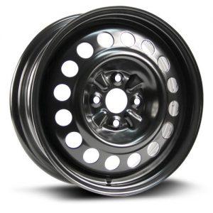 Aftermarket Wheel RTX, Steel Rim 15X5.5 black finish