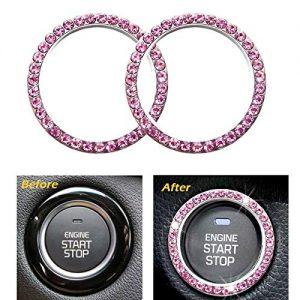 Engine Start Stop Decoration Crystal Ring