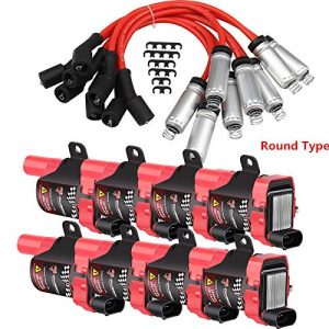 Carbole 8 Pack Ignition Coil Pack and 8mm Spark Plug
