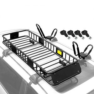 Roof Rack Rooftop Cargo Basket 2pcs/Set with 4 Straps