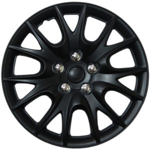 "Chrysler Turisma, 15"" Matte Black Replica Wheel Cover"
