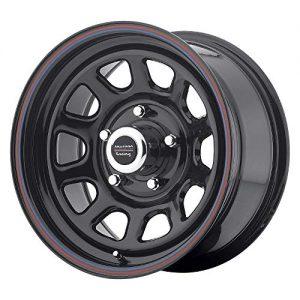 American Racing 16x8 5x5.5 12mm Black/Red/Blue Wheel