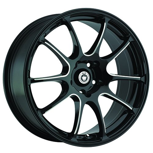 """17x7""""/5x4.5"""", 40mm Offset ILLUSION Wheel with Machined Finish"""