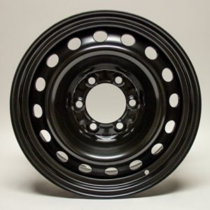 Steel Rim Wheel, 17X7 black finish