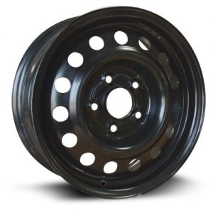 Steel Rim black finish Aftermarket Wheel 15X6
