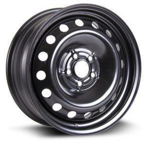 RTX, Steel Rim Wheel, 16X6.5, 5X100, 57.1, 44, black finish