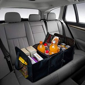 Car Trunk Organizer with Insulated Cooler Box