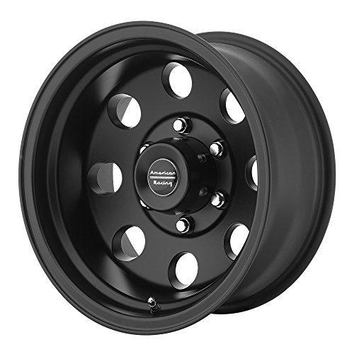 "Racing Custom Wheels AR172 Baja Satin Black Wheel 16x8"""