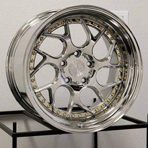 19x10.5 Aodhan DS1 5x114.3 22 Vacuum Platinum Wheel Rim 73.1