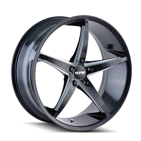TOUREN TR70 Black/Milled Spokes Wheel 40 mm Offset