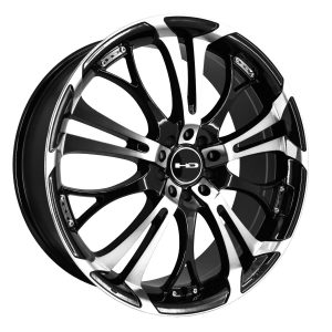"18"" Inch Wheel Rim Spinout 18x7.5 45mm 5 x 110/114.3 Black Machined"