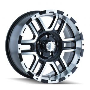 "Black Wheel with Machined Face/Lip 16x8""/8x170mm"