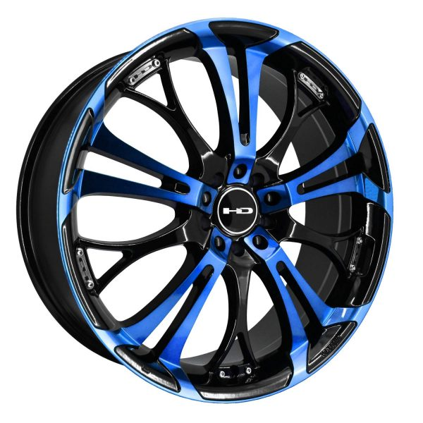 "16"" Inch Wheel Rim Spinout 16x7 40mm 5 x 100/114.3 Black Mach"