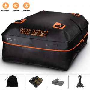 Rooftop Cargo Carrier Bag for All Vehicles with Rack & Truck Bed