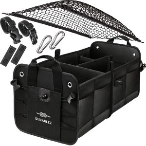 Trunk Organizer with Covering Net Non-Slip Pads