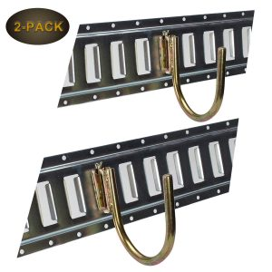ONESNT E-Track 2 PCS J Hooks Fitting Enclosed Trailer Cargo