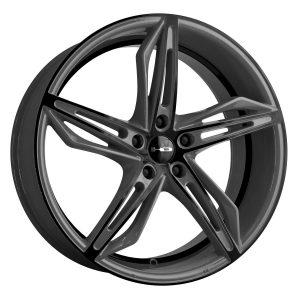 Gloss Gray With Black Face Rim Custom Wheel - 20X8.5