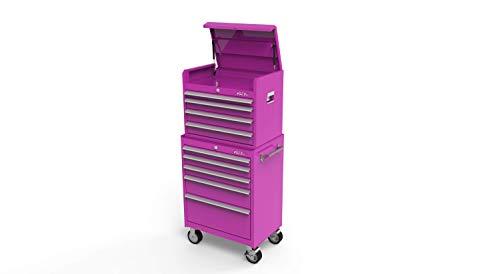 The Original Pink Box 26-Inch 9-Drawer Steel Tool