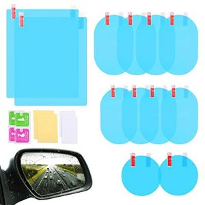 12Pcs Car Rearview Mirror Film, LeeLoon Anti Fog