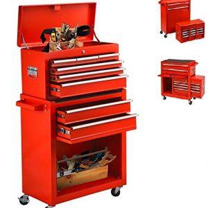 Tool Chest With Wheels 8 Drawer & Removable Tool Box