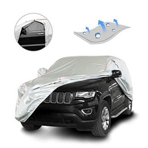 Windproof Car Cover for All Weather 211-220 inches Full-Size SUV