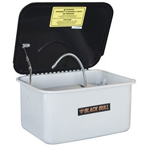 Parts Washer with 3.5 Gallon Capacity Black Bull