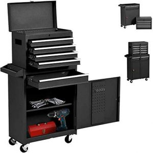 5-Drawer Rolling Tool Chest Portable Removable Tool Cabinet